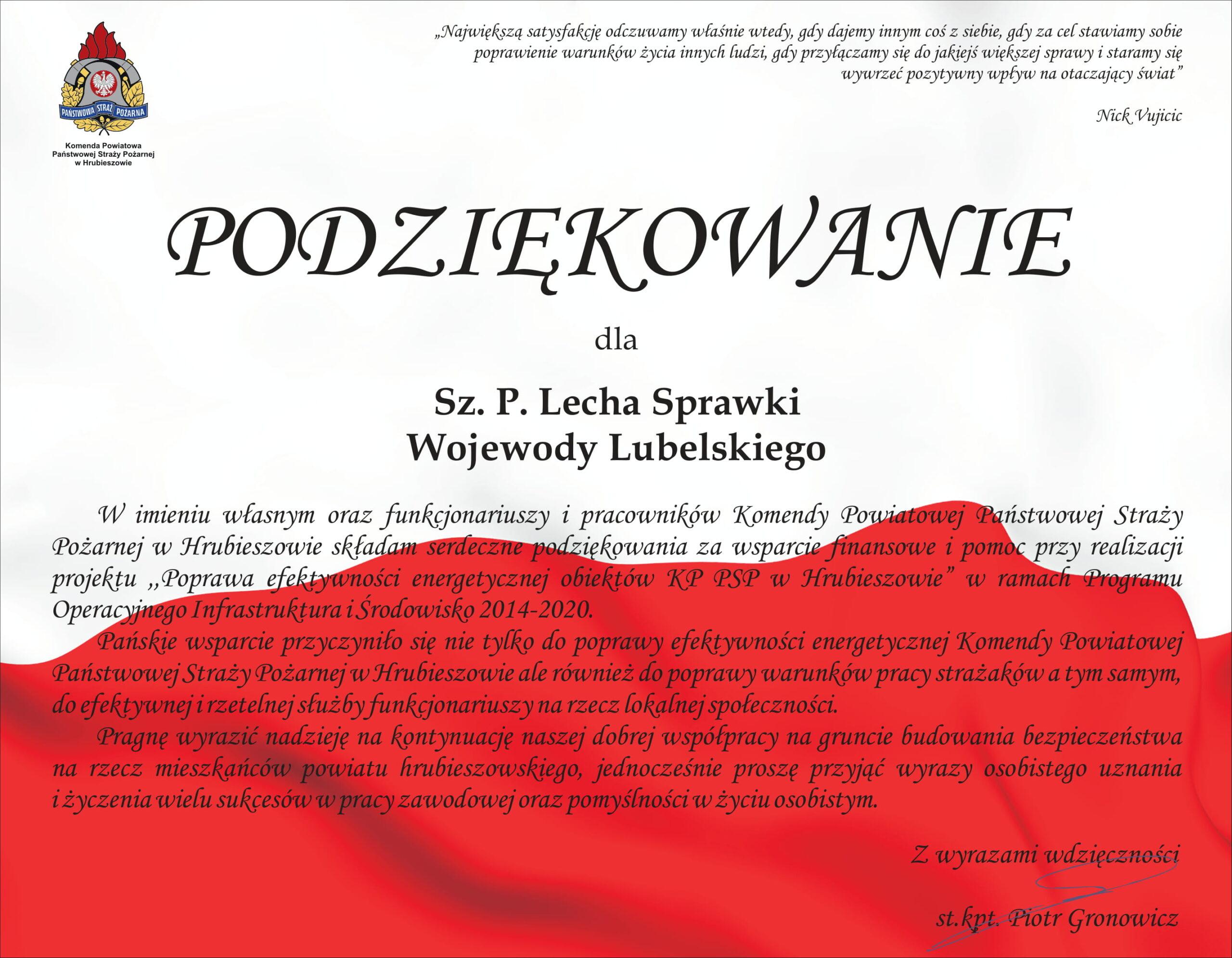 Podziękowania KP PSP Hrubieszów 06.05 (1)-07