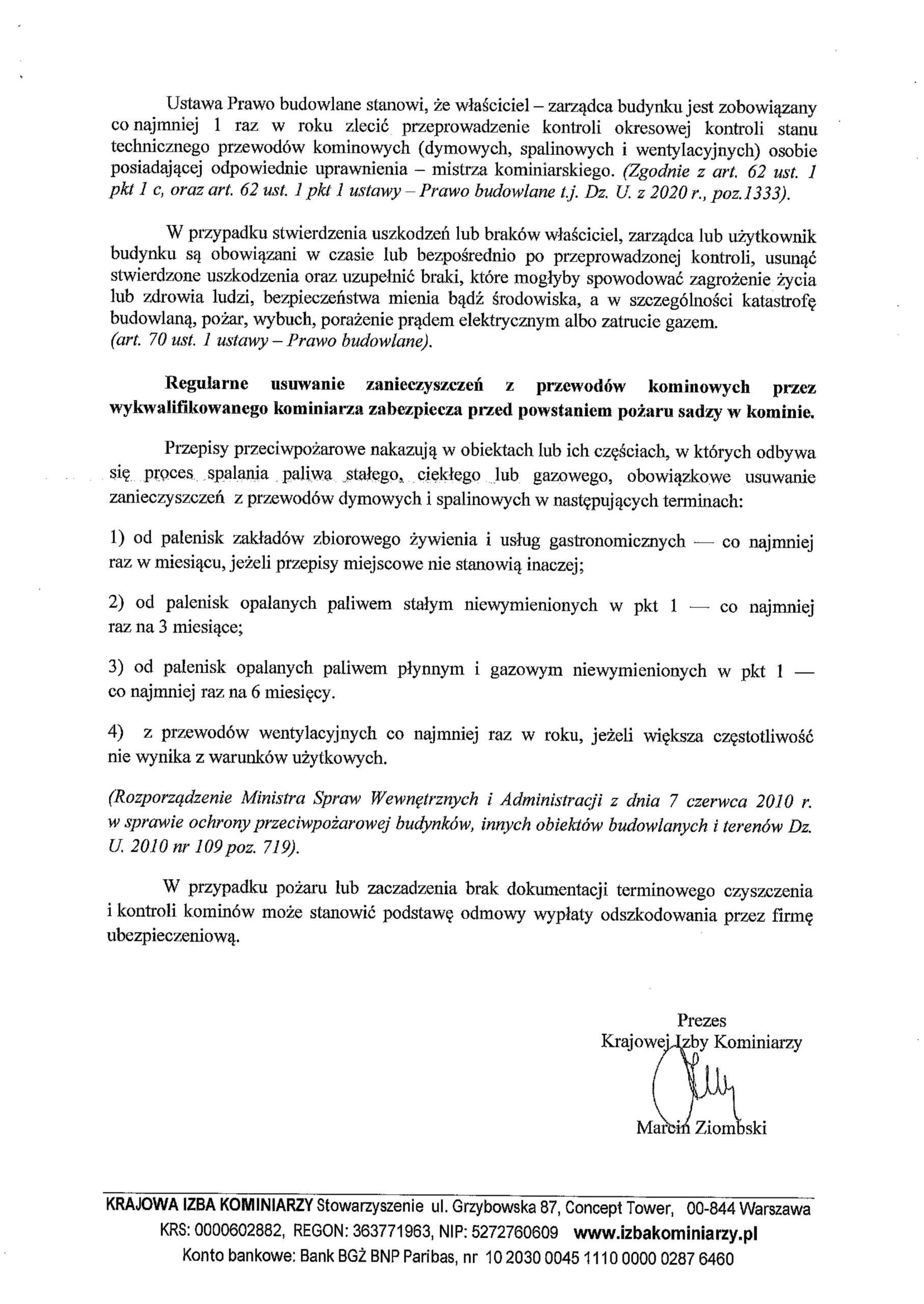 Krajowa Izba Kominiarzy strona 2